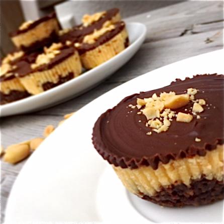 Schoko Erdnuss Cheesecake Muffins Kuchenmomente