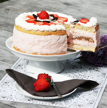 Erdbeer Rhabarber Torte Kuchenmomente